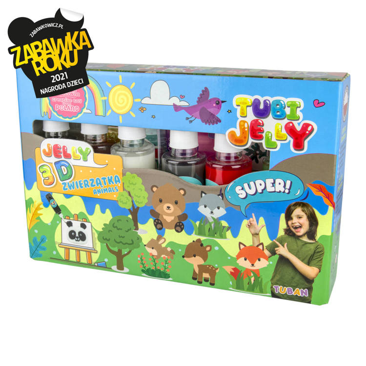 TUBI JELLY SET WITH 6 COLORS - ANIMALS