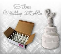 WEDDING CAKE, SWAN - 24 PCS - Sold only in Poland
