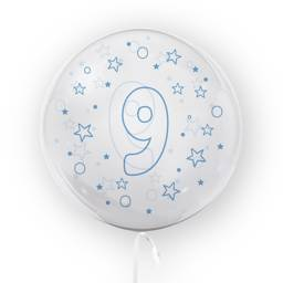 BALLOON 45CM NUMBER  9 Blue
